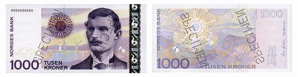1000 крон (2001) — художник Эдвард Мунк
