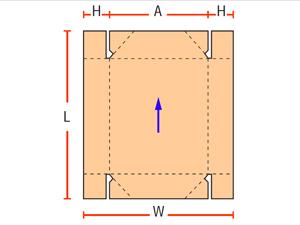 4 точечные сборные коробки