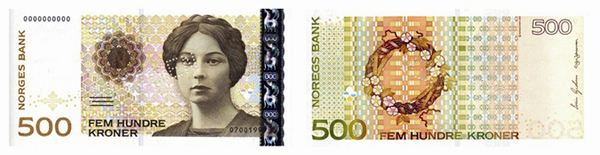 500 крон (1999) — писательница, лауреат Нобелевской премии Сигрид Унсет