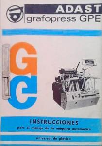 инструкция по обслуживанию и эксплуатации Adast grafopress GPE