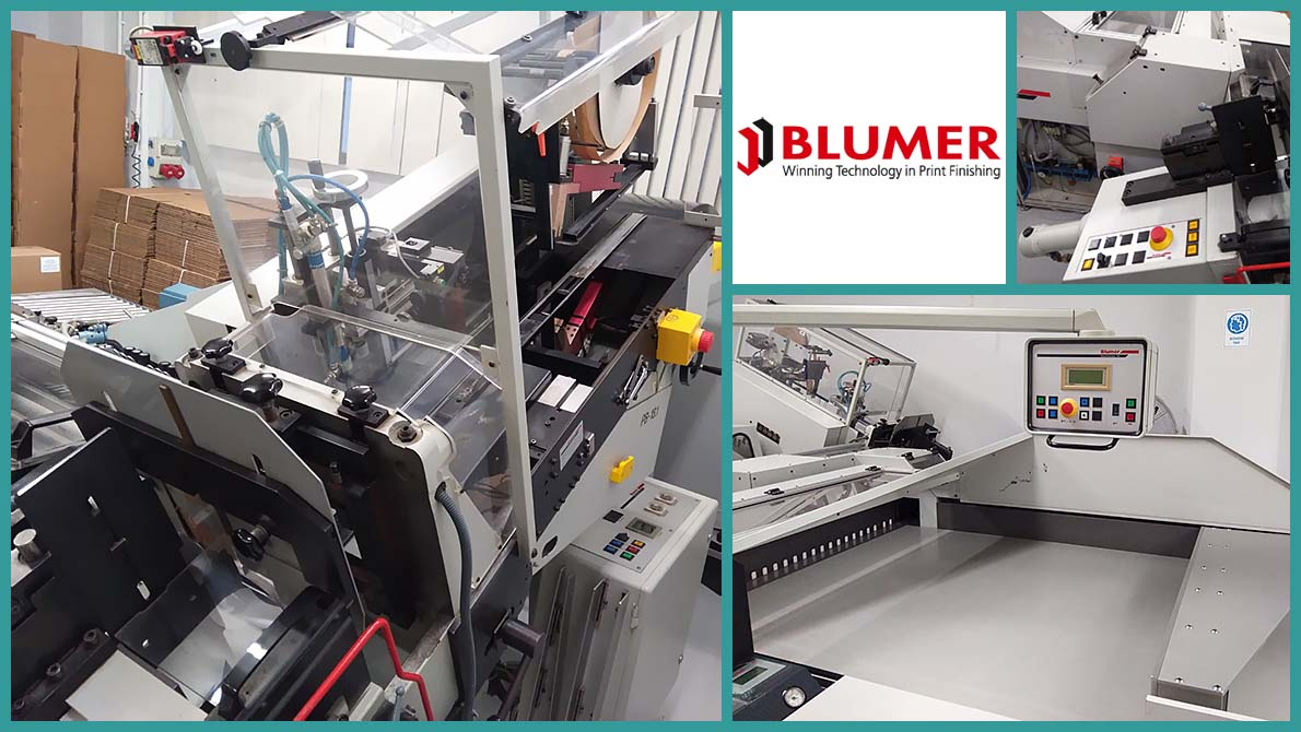 semi-automatic label cut press Blumer Atlas 115 (1996)
