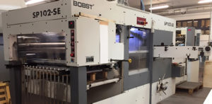 Autoplatine die cutting machine Bobst SP 102-SE (1994)
