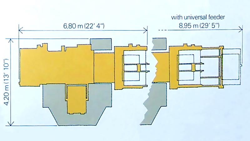 установочные размеры Bobst SP1260-E
