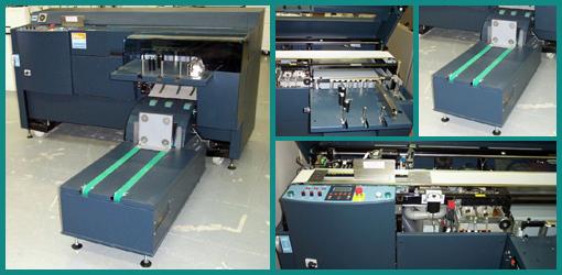 термоклеевая машина C.P. Bourg BB3001 и моторизированный конвейер BBR, 2003 год