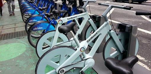 действующий велосипед из гофрокартона