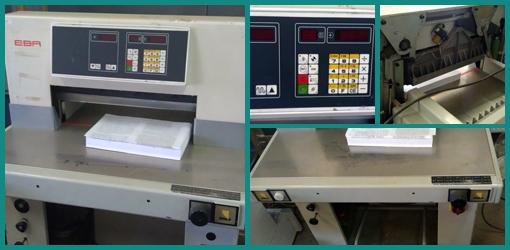 одноножевая бумагорезальная машина EBA Multicut 10/550 CNC (гидравлическая)