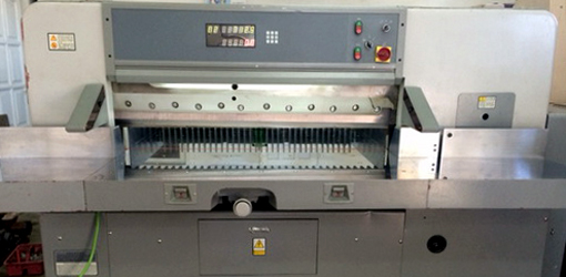 одноножевая бумагорезательная машина (гильотина), Китай (2011 год)