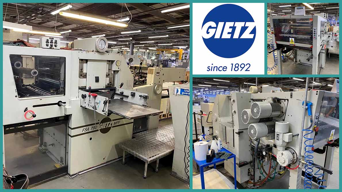 used hot-foil stamping press Gietz FSA 790 (age 1991)