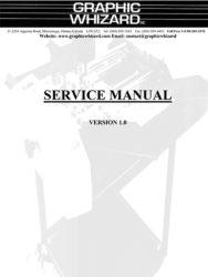 руководство по обслуживанию Graphic Whizard GW 6000