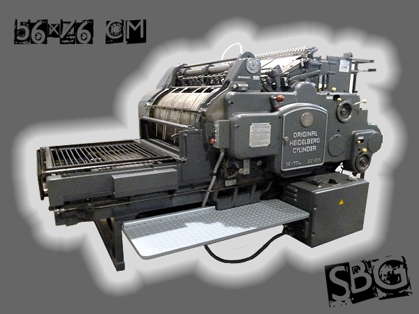 стоп-цилиндровая машина высокой печати Heidelberg SBG