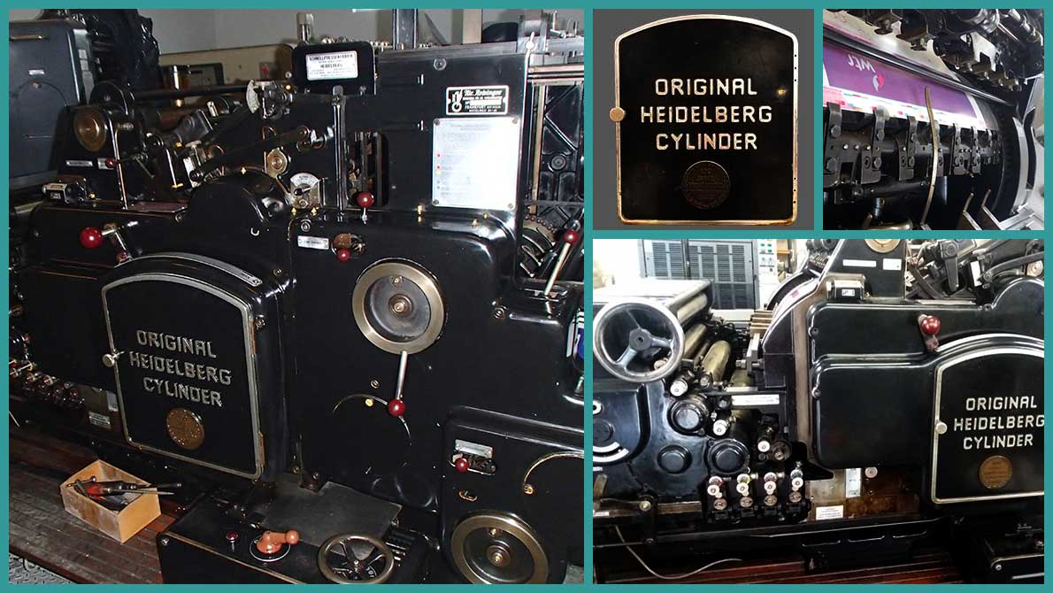 Original Heidelberg Cylinder модель S (54x72 см), б/у