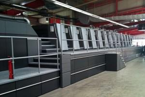 листовая печатная машина Heidelberg XL 105 (6 печатных секций, 3 лакировальные секции, 2 сушки)