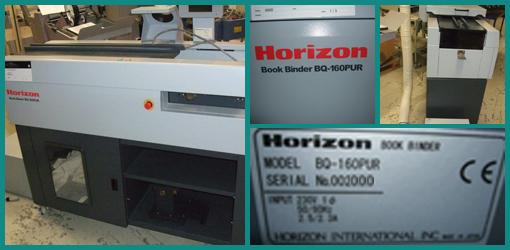 термоклеевая машина Horizon BQ-160 PUR, 2012 год (полиуретановый клей)