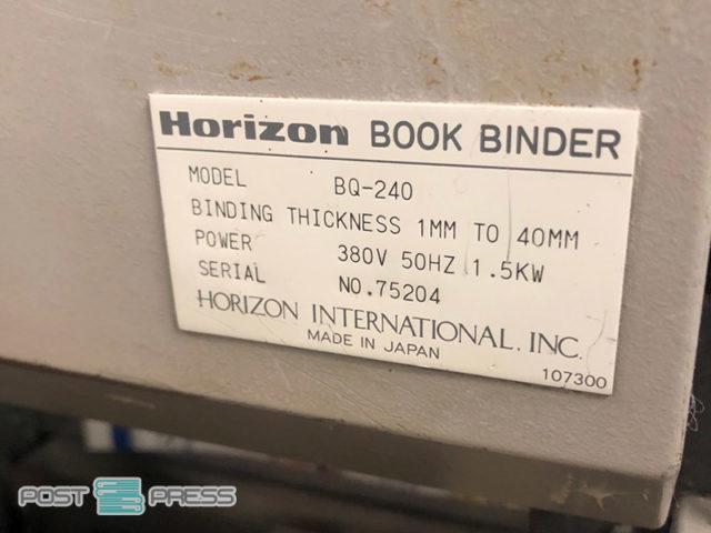 1 кареточний біндер Horizon BQ-240 (в Україні)