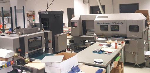 термобиндер Horizon BQ-440, охладитель SL-40, трехнож HT-70 (2002 год)
