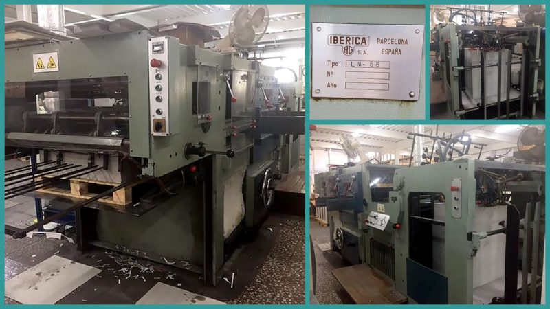 die-cutting machine Iberica-LM55 (1985)