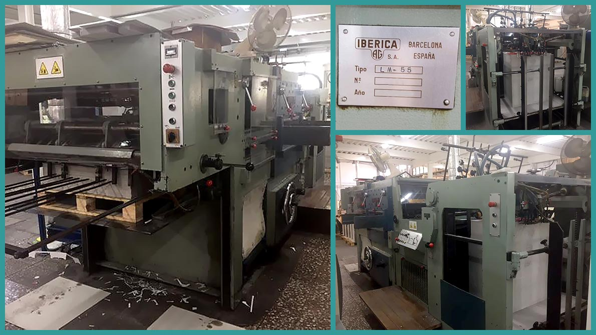 die-cutting machine Iberica-LM55 (1985)