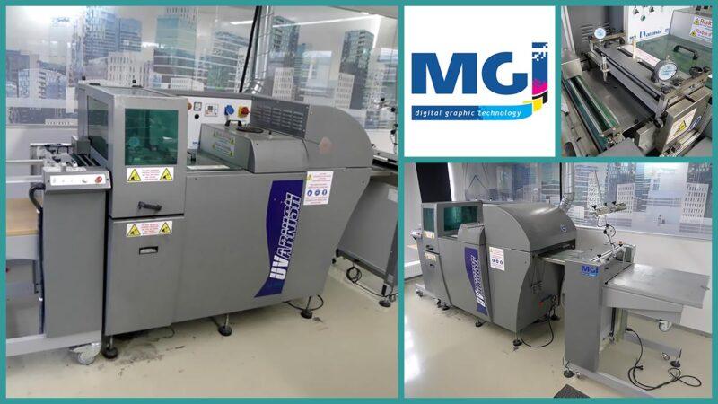 automatic surface coating MGI UVarnish (used)