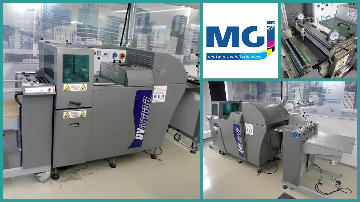 automatic surface coating MGI UVarnish (used)