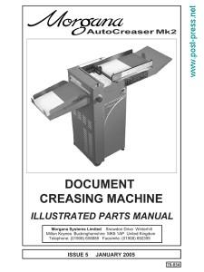 каталог запчастей Morgana Autocreaser MK2 (parts manual)