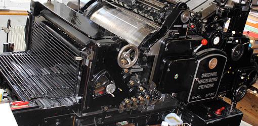 оригинальный стоп-цилиндр Original Heidelberg Cylinder SBG, 1962 год выпуска