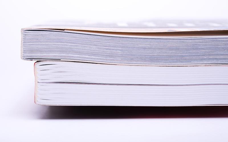 книги скреплённые методом клеевого бесшвейного скрепления