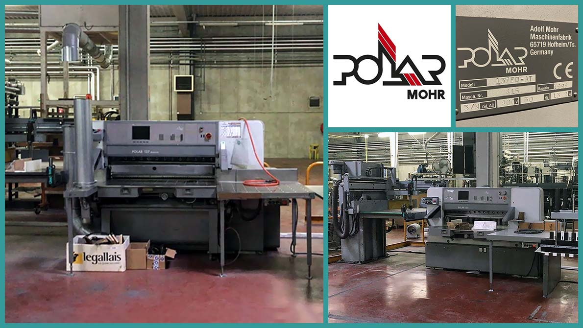 used paper cutting line Polar 137 ED Autotrim + Transomat 3 BL + Transomat EL (1998)