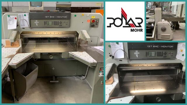 used paper cutter Polar 137 EMC-Monitor (1989)