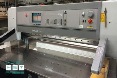 одноножевая бумагорезательная машина Polar 155 ED, 2002 год