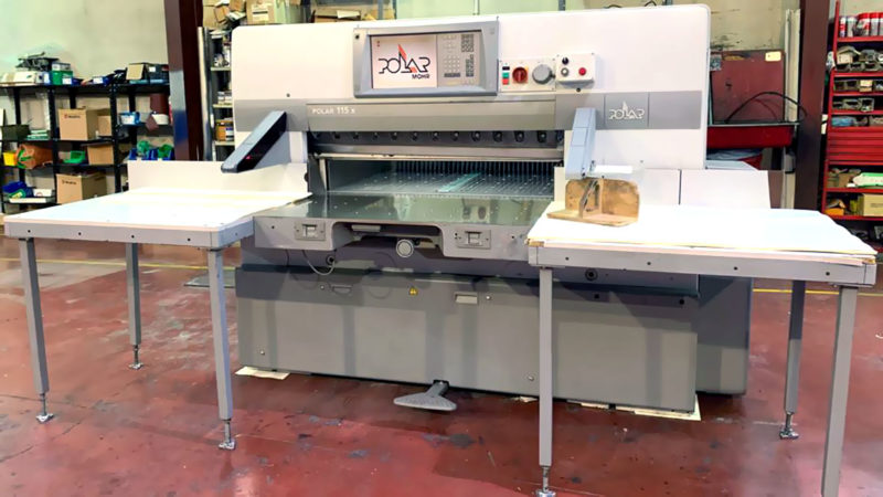 "used paper cutter Polar 115 X (15"" colour monitor)"
