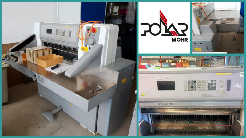 used guillotine Polar 78E (1995)