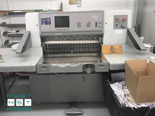 бумагорезательная машина Polar 92 ED, 2001 год