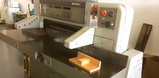 used paper cutter Polar 92 EM (1989)