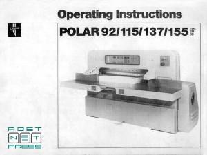 техническая документация Polar 92 EM (Полар 92)
