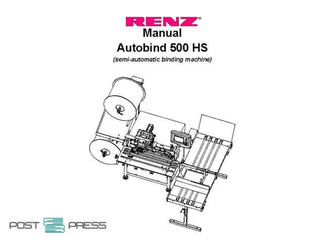 техническая документация (manual) Renz Autobind 500 HS
