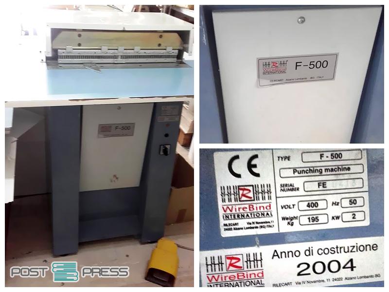 электрический пробивщик (перфоратор) Rilecart F-500 (2004)