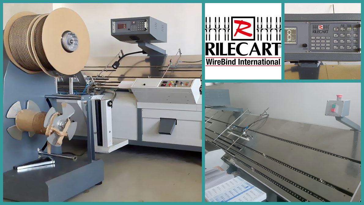 automatic punch and wire-O bind machine Rilecart PB-796 HD MK3 (2007)