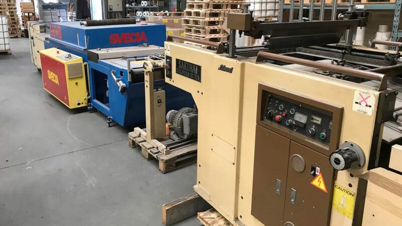 screen printing line SAKURAI SC72A + Svecia SUVD + Thieme SBS 55/75