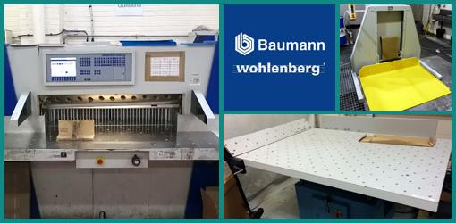 резальная линия Wohlenberg cut-tec 115 (2001 год), лифт Polar LW-1000, джоггер Baumann BSB-7