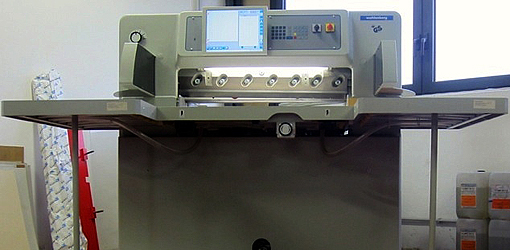 гидравлическая резальная машина Wohlenberg P 92 HTVC (б/у из Европы)