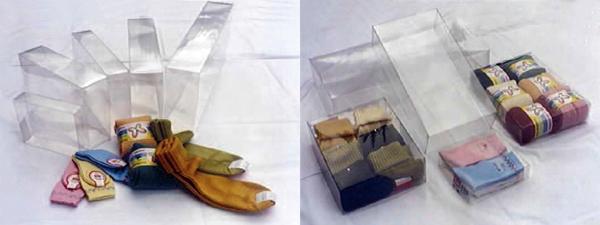 прозрачные боксы из ПВХ (PVC) для носков и перчаток