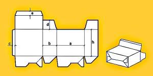 развертка картонной коробки