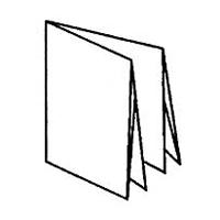 2 параллельных фальца + 1 перпендикулярный = 12 страниц