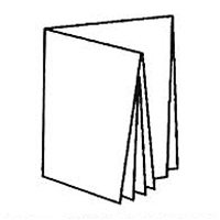2 параллельных фальца + 1 перпендикулярный = 16 страниц