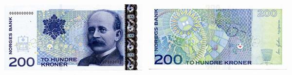 200 крон (1994) — учёный Кристиан Биркеланд (англ. Kristian Birkeland)