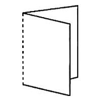 1 симметричный параллельный фальц с перфорацией = 4 страницы