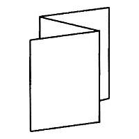 2 параллельных фальца с одинаковыми длинами сторон (зигзагообразный)  = 6 страниц