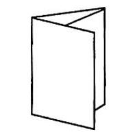 2 параллельных фальца (с загибкой одинаковых частей листа внутрь) = 6 страниц