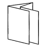 2 симметричных параллельных фальца = 8 страниц