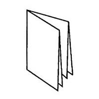 2 перпендикулярных фальца = 8 страниц